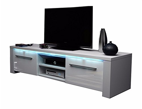 tv schrank lowboard sideboard conoy mit led wei matt. Black Bedroom Furniture Sets. Home Design Ideas