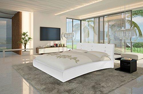 xxs bebop polsterbett 180 x 200 cm in edlem wei bett. Black Bedroom Furniture Sets. Home Design Ideas