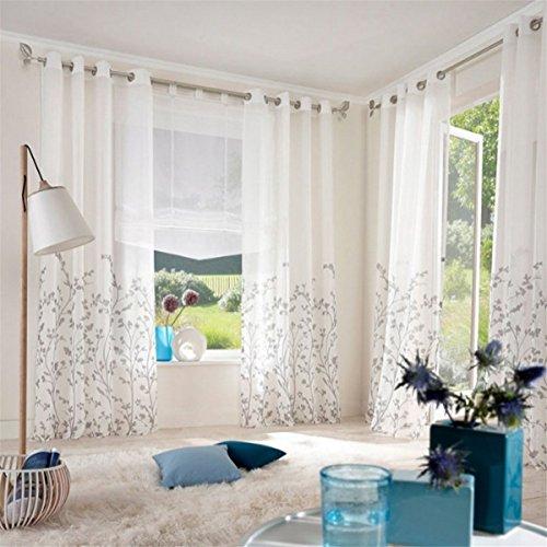 zalago schlaufenschal fenster stoffdruck blumen gardine vorhang wohnzimmer deko m bel24. Black Bedroom Furniture Sets. Home Design Ideas
