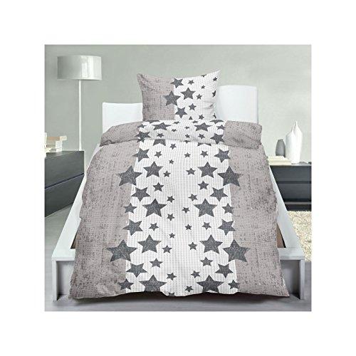 2 oder 4 tlg micro seersucker bettw sche mit rei verschluss aus 100 polyester 135 200 cm in. Black Bedroom Furniture Sets. Home Design Ideas