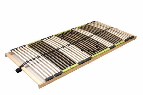 "7 Zonen Lattenrahmen Lattenrost 70x200 cm ""DaMi Relax NV"" zerlegt inkl. Härteverstellung 42 Federholzleisten"
