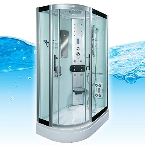 AcquaVapore DTP8060-7000L Dusche Duschtempel Komplett Duschkabine 120x80