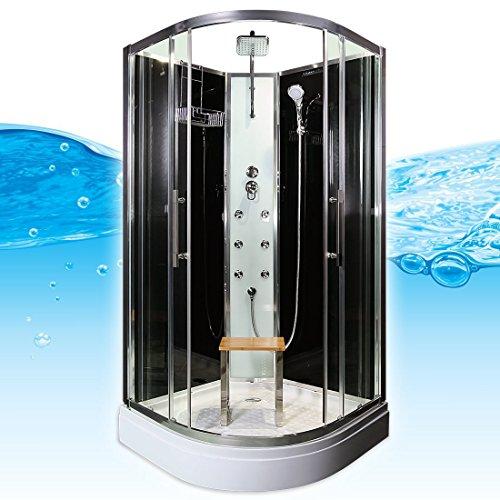 AcquaVapore QUICK16-0300 Dusche Duschtempel Komplette Duschkabine 80x80