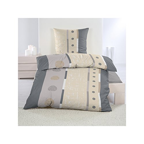 bettw sche 155 220 cm microfaser fleece winter bettgarnitur komfortgr e 2 teiliges set beige. Black Bedroom Furniture Sets. Home Design Ideas