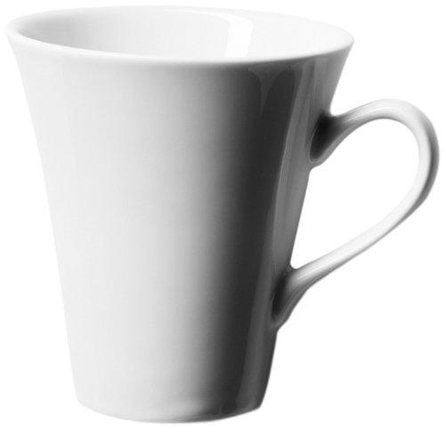 Domestic Professional by Mäser, Serie Leaf, Kaffeeservice 18-teilig mit je 6 Tassen, Untertassen und Desserttellern, eine weiße Porzellanserie, die die Form eines Blattes hat