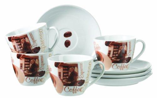 Domestic by Mäser, Serie Latte Macchiato, passendes Kaffeedekor auf robustem Porzellan