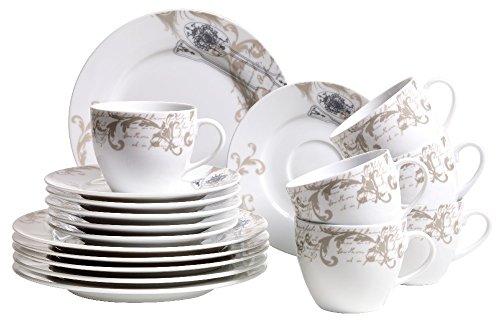 Domestic by Mäser, Serie Tradizione, Kaffeeservice  teilig für 6 Personen, verleiht Ihrem Tisch Eleganz
