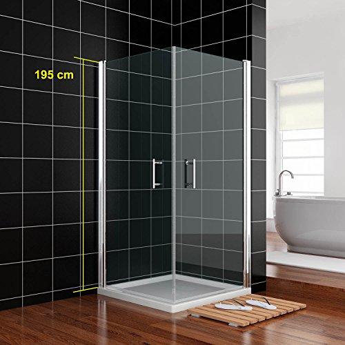 duschkabine 90x90cm duscht r nische schwingt r rahmenlos. Black Bedroom Furniture Sets. Home Design Ideas