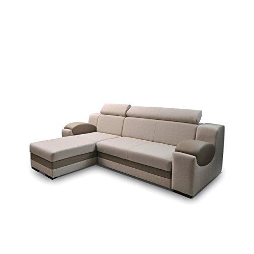 eckcouch madryt ecksofa mit einstellbare kopfst tze. Black Bedroom Furniture Sets. Home Design Ideas