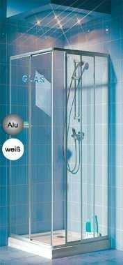 Eckeinstieg Duschkabine Echtglas Sicherheitsglas Silberne Profile 80x80 90x90 80x90 90x80