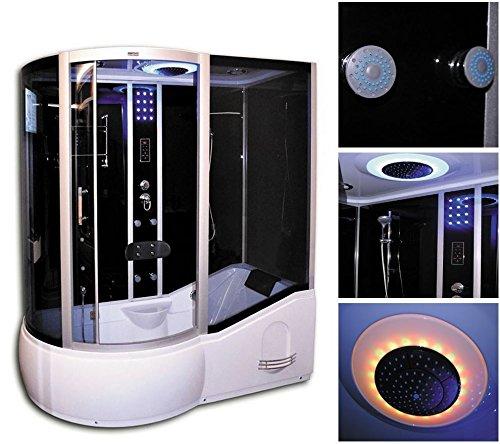 Home Deluxe ALL IN 4in1 schwarz Duschtempel, inkl. Dampfsauna und komplettem Zubehör