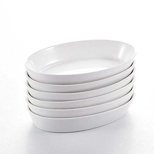 """Malacasa, Serie Bake.Bake, 6-teilig 7,5""""/19cm/350ml Tiefteller Keramik Teller Set Speiseteller Salatteller Suppenteller 19x12x3,5mm"""