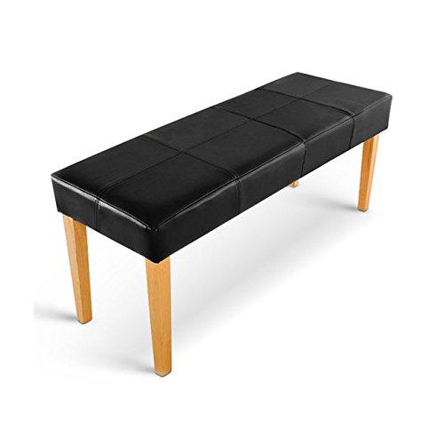 sam esszimmer sitzbank enzio 110 in schwarz mit buche farbigen beinen aus pinien holz bank in. Black Bedroom Furniture Sets. Home Design Ideas