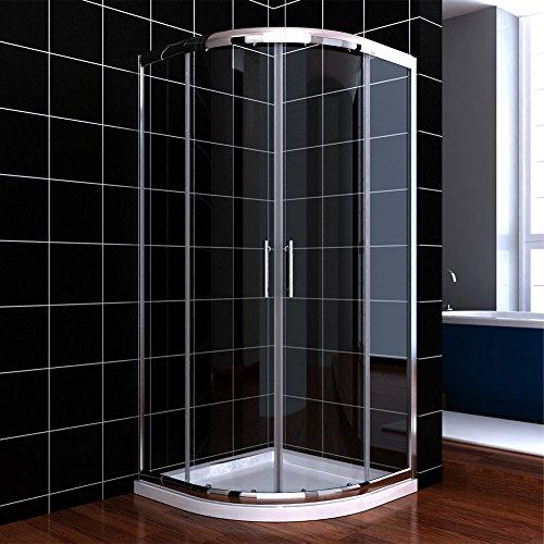 Viertelkreis Duschkabine 80x80 Duschabtrennung mit Rahmen Runddusche Schiebetür Dusche Duschwand