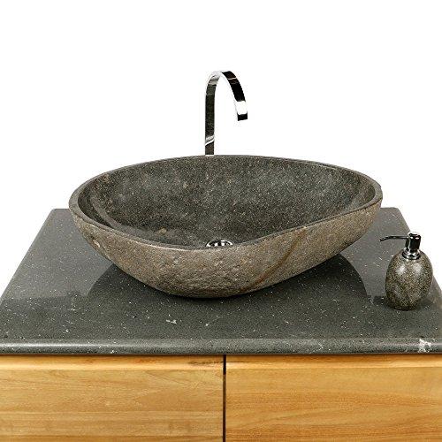 Wohnfreuden Naturstein Waschbecken 70 cm groß Waschtisch Waschschale Findling