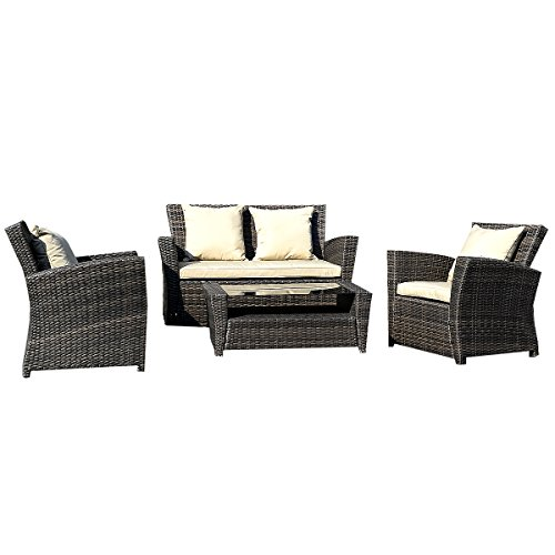 11tlg gartenm bel rattan lounge set polyrattan sitzgruppe rattanm bel garnitur garten m bel24. Black Bedroom Furniture Sets. Home Design Ideas
