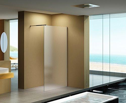 120x200 cm Duschabtrennung LILY Frost, Milchglas, Duschwand, Walk-In Dusche, 10 mm ESG Sicherheitsglas