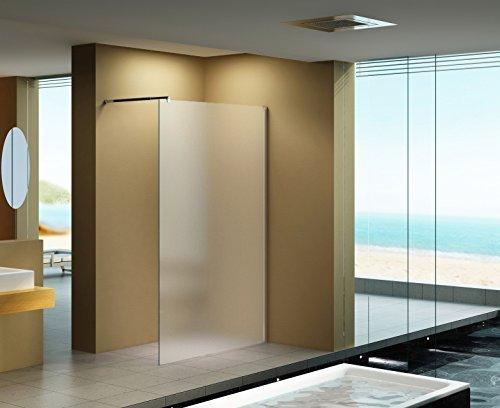 140x200 cm Duschabtrennung LILY Frost, Milchglas, Duschwand, Walk-In Dusche, 10 mm ESG Sicherheitsglas
