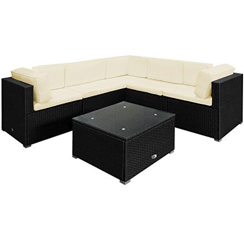 20tlg medium rattan lounge set creme xxl r ckenkissen sitzgarnitur gartenm bel gartenset. Black Bedroom Furniture Sets. Home Design Ideas