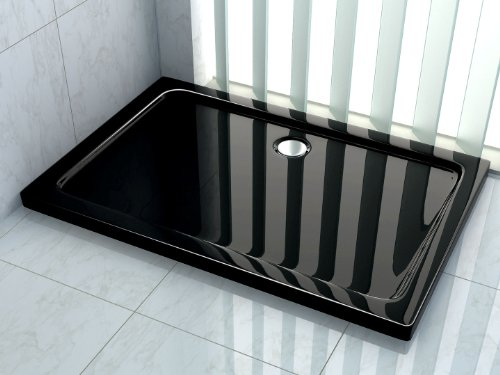 50 mm Duschtasse 100 x 80 cm (schwarz)