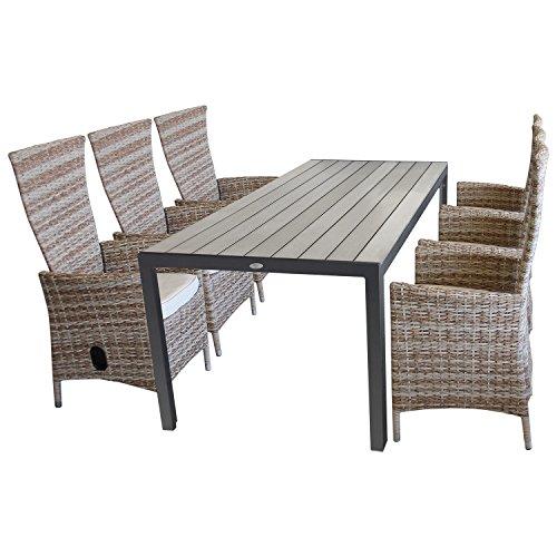 7tlg sitzgruppe sitzgarnitur gartengarnitur gartenm bel terrassenm bel set polywood gartentisch. Black Bedroom Furniture Sets. Home Design Ideas