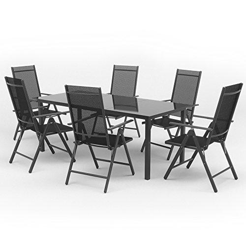 alu sitzgarnitur gartenm bel anthrazit set 9 teilig. Black Bedroom Furniture Sets. Home Design Ideas
