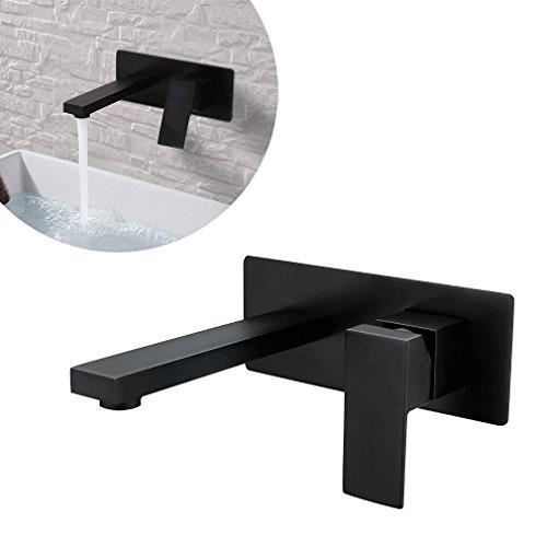 auralum orb schwarz wandarmatur wandmontage unterputz waschtischmischer bad armatur. Black Bedroom Furniture Sets. Home Design Ideas
