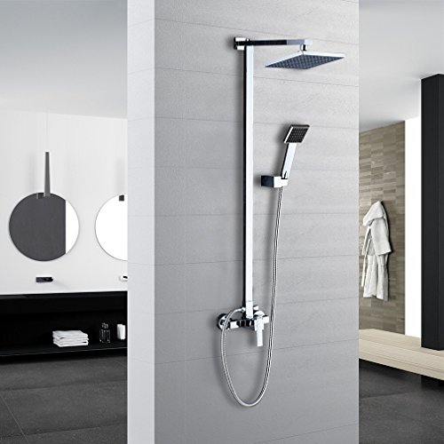 auralum klasischdesign duschkopf regenkopf dusch set berkopf brauseset inkl wandhalterung. Black Bedroom Furniture Sets. Home Design Ideas
