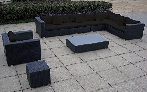 Baidani Garten Lounge Garnitur Flachrattan, Sunmaster Select