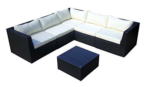 Baidani Garten Lounge Garnitur Flachrattan, Surprise Select