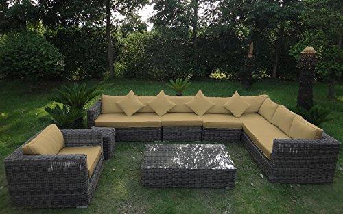 Baidani Garten Lounge Garnitur Rundrattan, Celebration Select