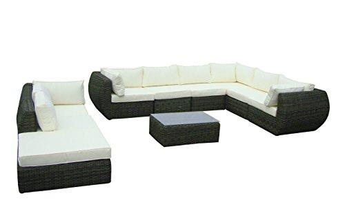 Baidani Garten Lounge Garnitur Rundrattan, Majesty Select