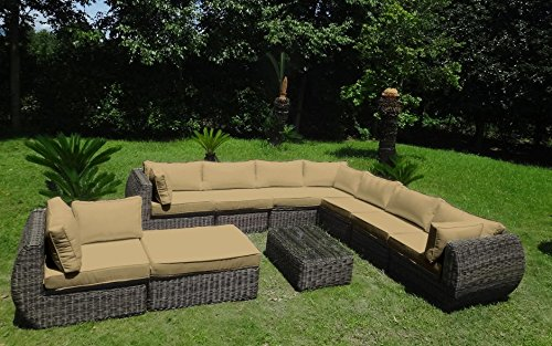 Baidani Garten Lounge Garnitur Rundrattan, Masterpiece Select