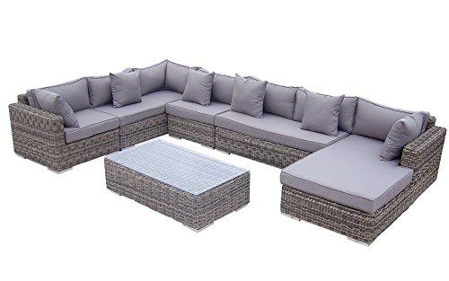 Baidani Garten Lounge Garnitur Rundrattan, Perfection Select