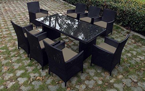 Baidani Rattan Garten Sitzgruppe Elegancy XXL Select - Schwarz