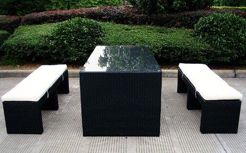Baidani Rattan Lounge-Garnitur Moonlight