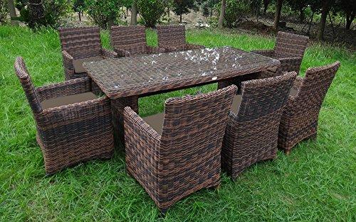 Baidani Rundrattan Garten Sitzgruppe Liberty Braun Select