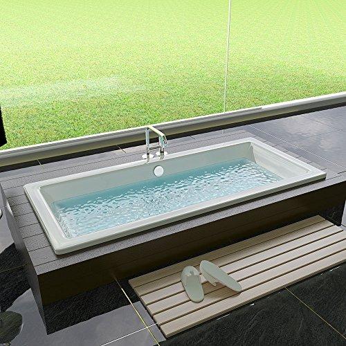 Design Acryl Badewanne 1700 x 750 x 475 mm Rechteck Badewanne