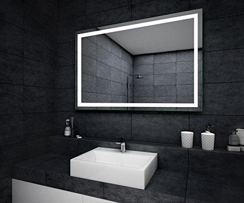 Design badspiegel mit led beleuchtung wandspiegel for Hohe spiegel bad