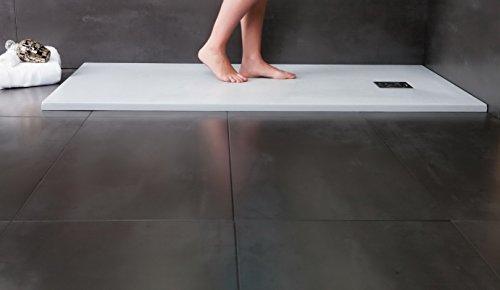 Designer Duschtasse - Mineralguss Duschtasse 80 x 120 - STONE - Anthrazit
