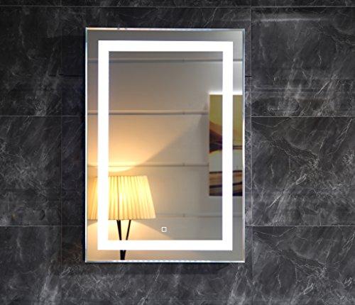 dr fleischmann led beleuchtung badspiegel gs099 lichtspiegel wandspiegel 50x70cm mit touch. Black Bedroom Furniture Sets. Home Design Ideas