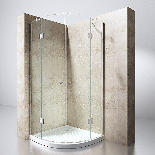 Duschabtrennung Duschkabine Ravenna2 aus 8mm Sicherheitsglas in verschiedenen Glasarten und Größen optional mit Duschtasse