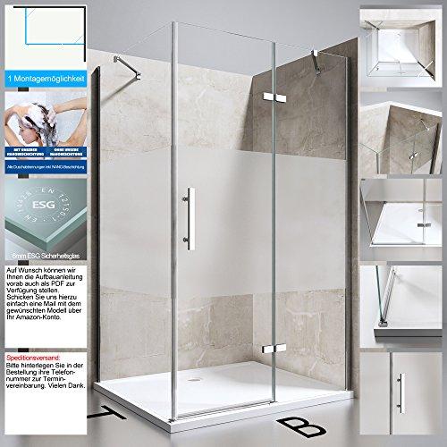 Duschabtrennung Duschkabine Ravenna28 aus ESG Sicherheitsglas in verschiedenen Glasarten und Größen...