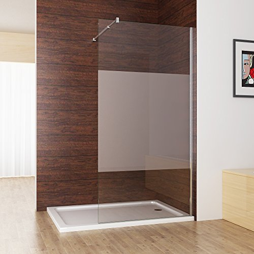 duschabtrennung walk in duschwand seitenwand dusche 10mm nano teilsatiniert glas duschtrennwand. Black Bedroom Furniture Sets. Home Design Ideas