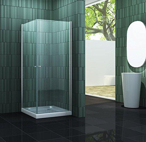 Duschkabine CASA 80 x 80 x 190 cm ohne Duschtasse