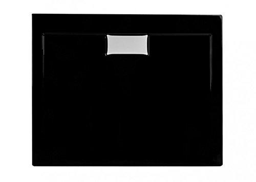 Duschwanne aus Acryl | schlagfest | Duschtasse in Schwarz