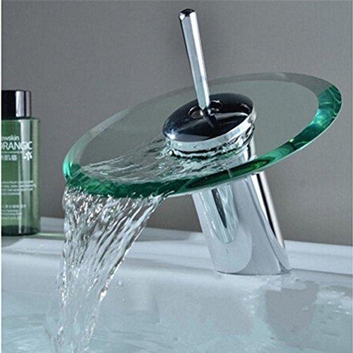 Einhand runde glasauslauf wasserfall waschbecken for Runde esszimmertische modern