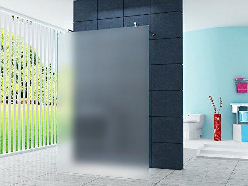 Freistehende 10 mm Duschabtrennung Düsseldorf - Milchglas, Frost 120 x 200 cm / Walk-In Duschtrennwand Duschwand Dusche ESG Sicherheitsglas