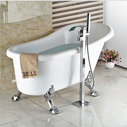 gowe boden montiert wasserfall badewanne wasserhahn mit handbrause badewanne armatur freistehend. Black Bedroom Furniture Sets. Home Design Ideas