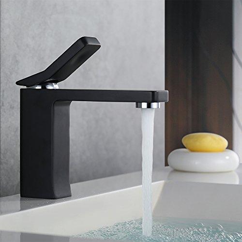Homelody® Schwarz Elegant Waschbeckenarmatur Wasserhahn Armatur Waschtisch DVGW Authentifizieren